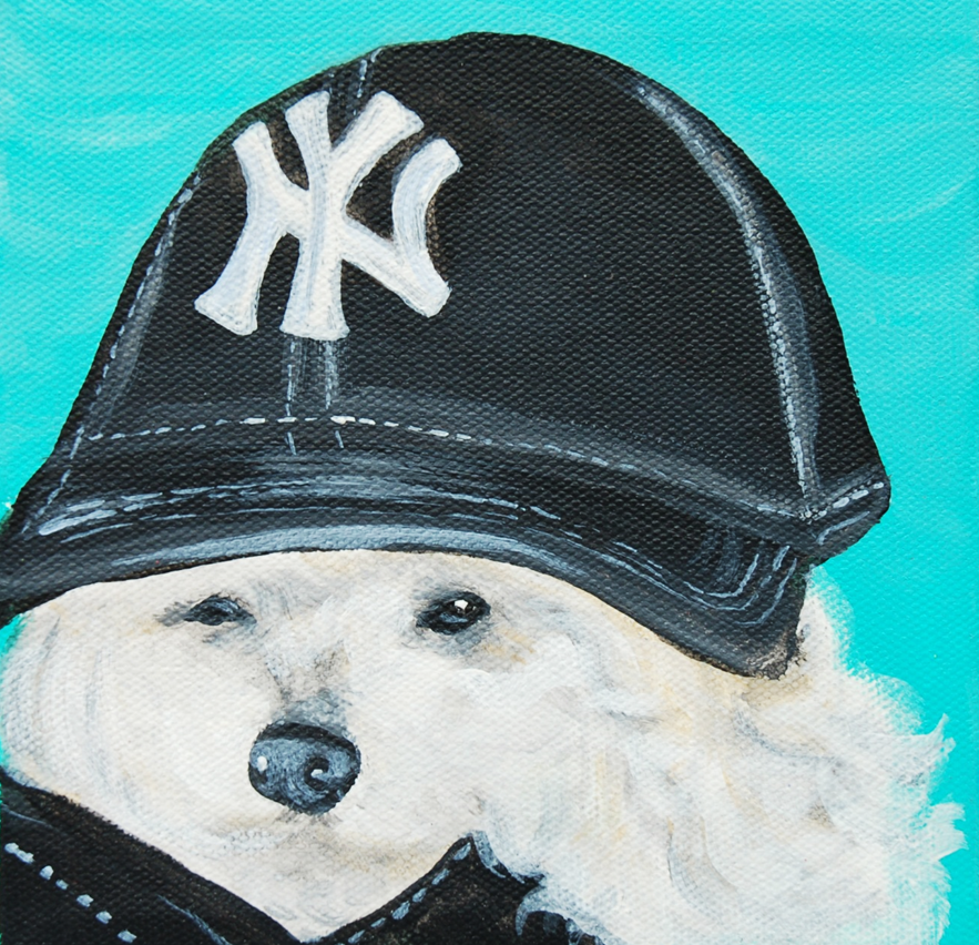 poodle yankees fan painting.png