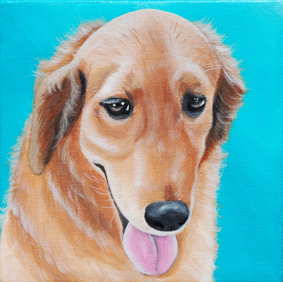 happy golden retriever painting tongue out.png