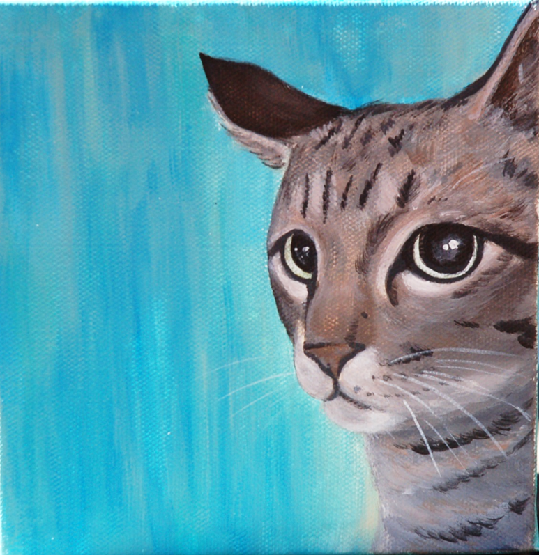 pretty kitty painting