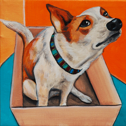 cute dog in a box painting.png