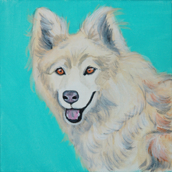 White furry big dog painting.png