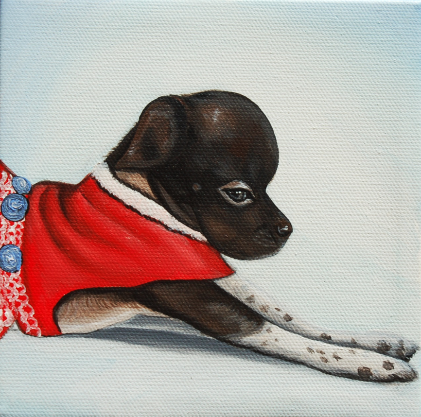 cute little puppy stretching painting.png