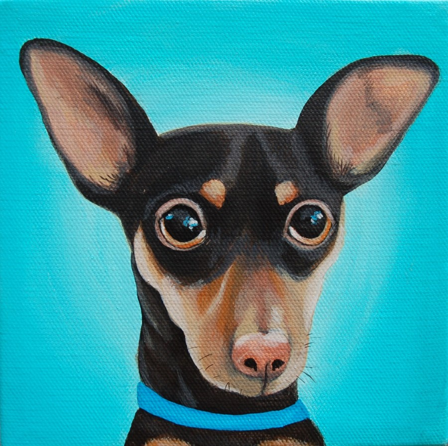 miniature pischer chihuahua painting chewy.jpg
