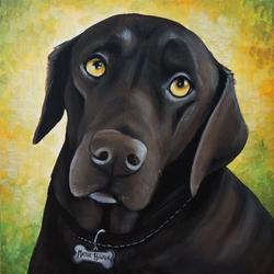 Major Hunter custom pet painting