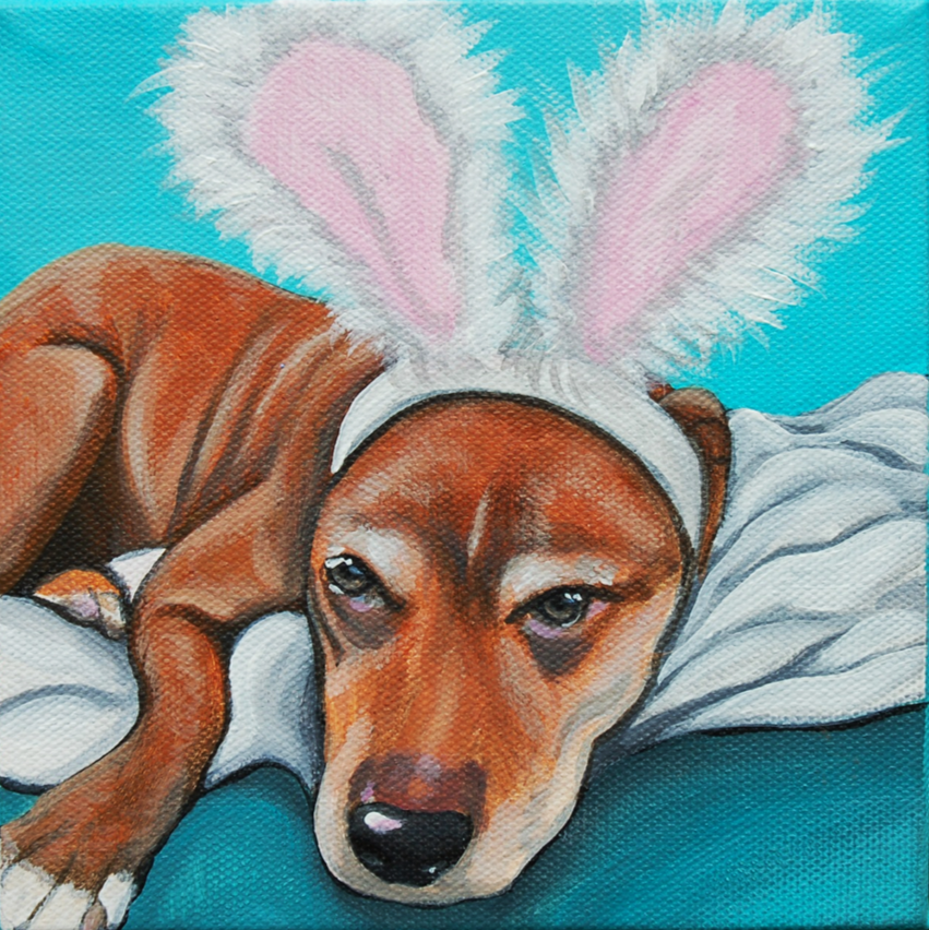pitbull wearing bunny ears painting.png