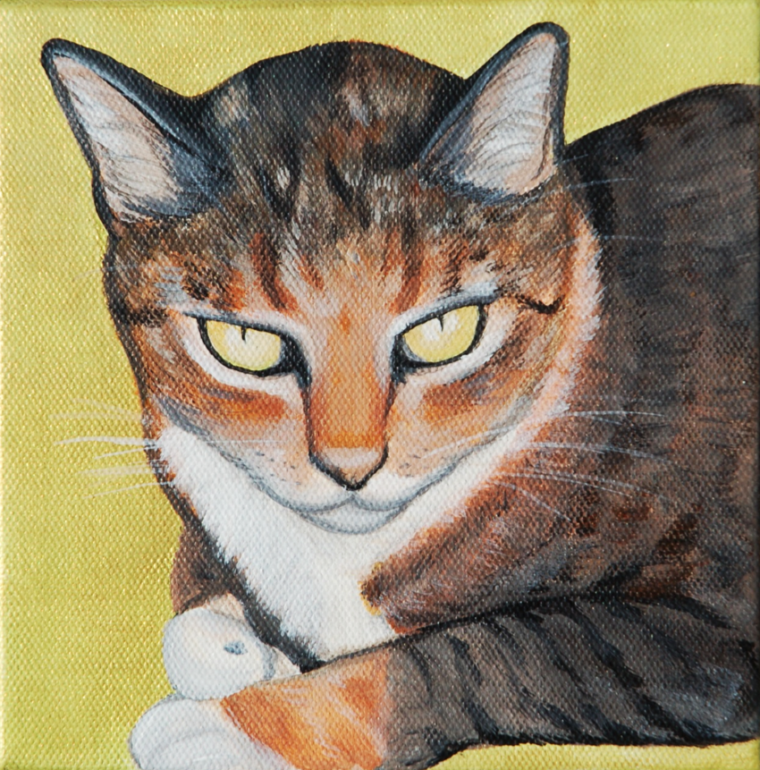 multicolored cat painting gold.png