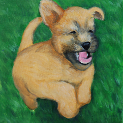 happy puppy in grass painting.png