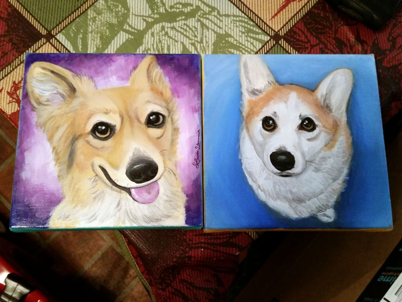 Cali and Machete's paintings!