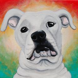 american bulldog white cusotm pet painting portrait.png