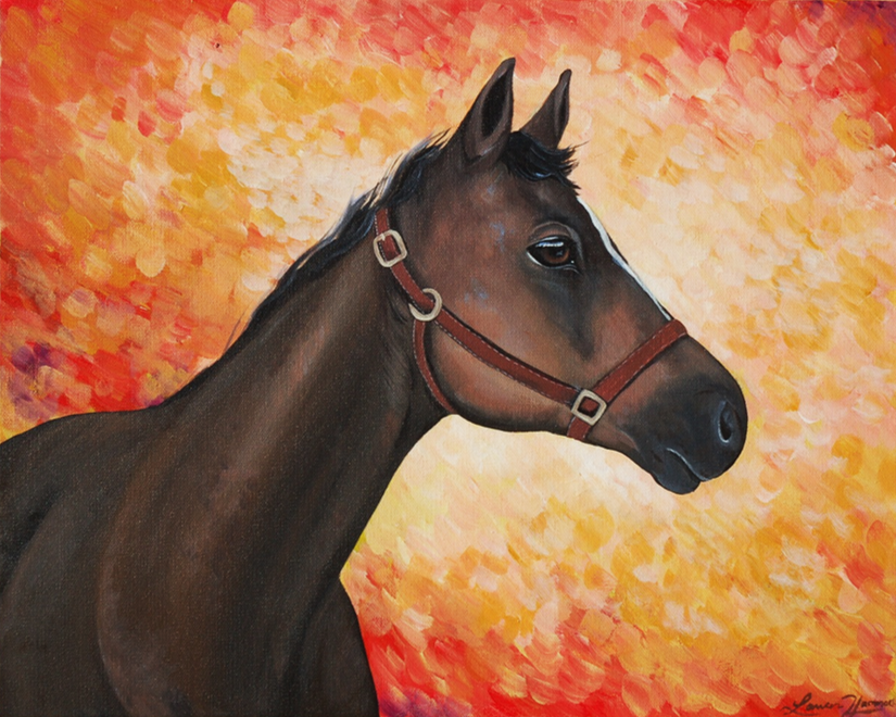 Gunner Custom Horse Painting on Canvas