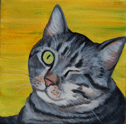 one eyed cat painting :)