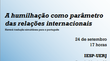 Conferência do Professor Bertrand Badie