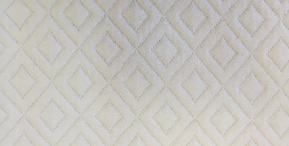 White Maltese Double Diamond Fabric