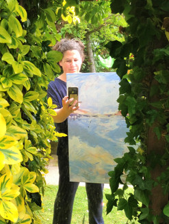 Artist and Painting, Kirsteen Lyons Benson