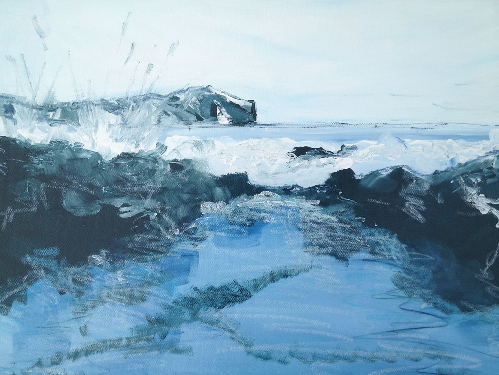 Seascape with Splash, By Kirsteen Lyons Benson