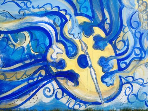 Pallet Painting, Kirsteen Lyons Benson