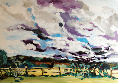 Landscape in Susesx, By Kirsteen Lyons Benson