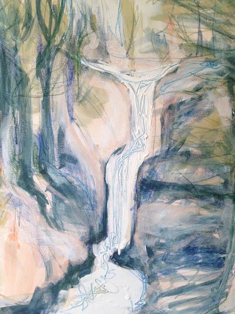 Waterfall, By Kirsteen Lyons Benson BA (Hons)