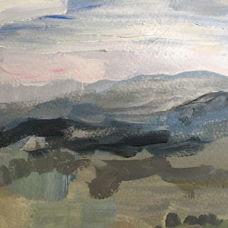 Close-up Landscape After Rain by Kirsteen Lyons Benson