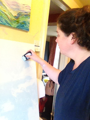 Artist painting, Kirsteen Lyons Benson