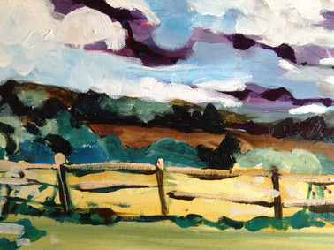 Close-up for Sussex landscape, By Kirsteen Lyons Benson