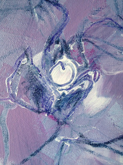 Close-up Orchid painting