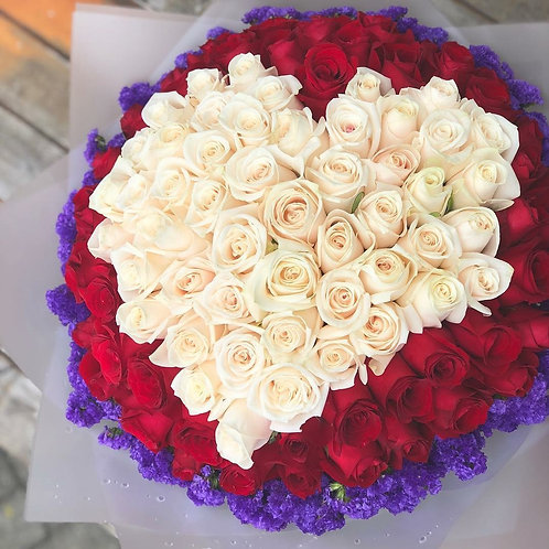 99/108 心形玫瑰花束 Heart Shaped Bouquet 1 HTREWH-TR99M