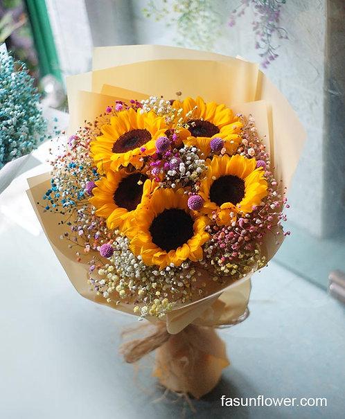 (必須預訂)向日葵花束 Sunflower bouquet SF-Ye5MB