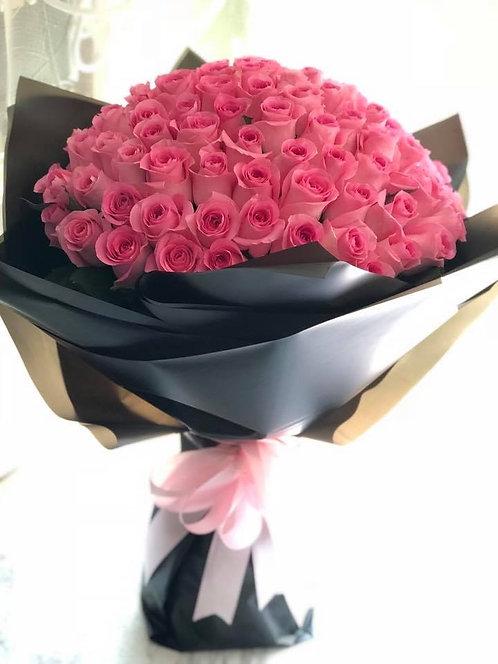 99/108甜蜜粉紅玫瑰花束 Pink Rose Bouquet DP-BK99