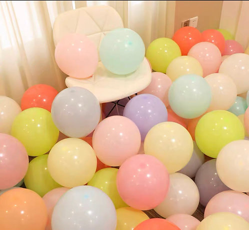 淨色乳膠氣球30個