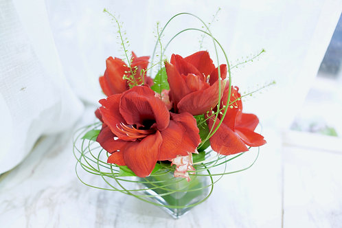 朱頂蘭鮮花擺設 Amaryllis Flower Decorate (small)