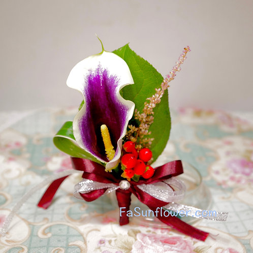 四個鮮花襟花套裝 Calla Lily corsage x4 KF02