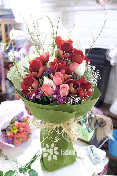 Grand Amaryllis Bouquet 朱頂蘭花束 AMARYLLIS