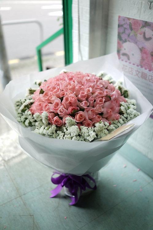 99/108 玫瑰無忘我花束 Roses Bouquet PK-WH99WF