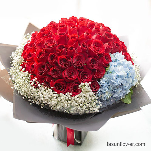 99/108 玫瑰繡球花束 Roses Bouquet RE-BK99BHYB