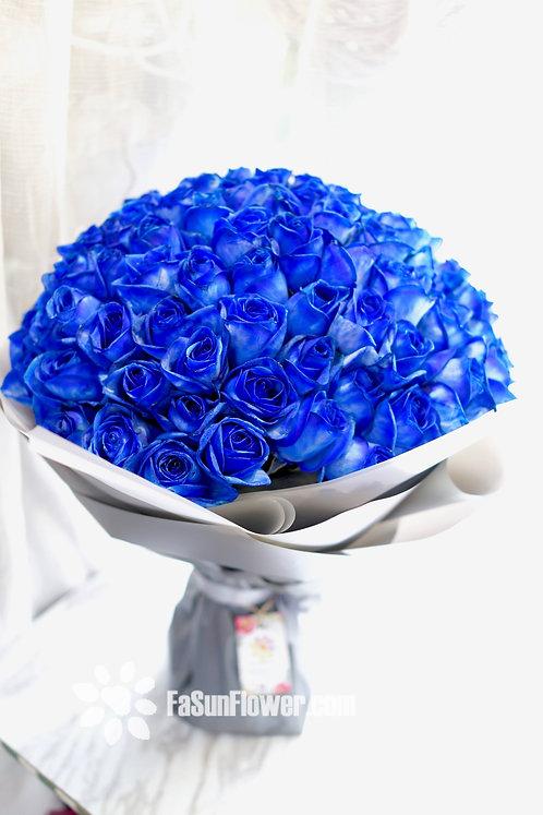(必需預訂) 99/108 藍玫瑰花束 Blue Rose Bouquet BU-TRGY99