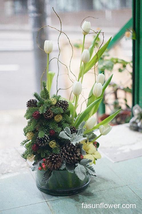 【聖誕限定】座枱鮮花擺設 Table Floral TT-TU-FG-01