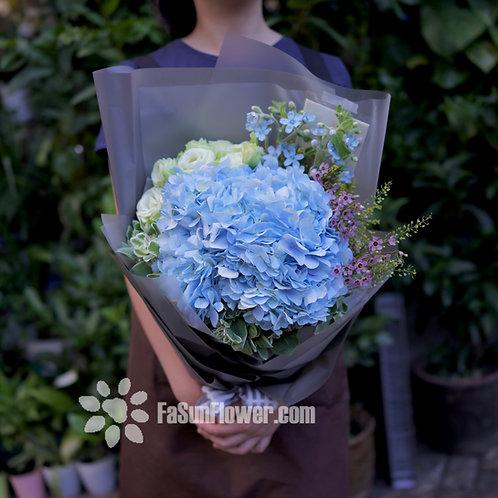 藍星花藍繡球花束 Blue Star bouquet BSBH03L