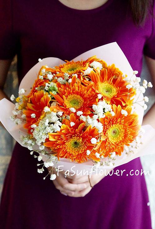 太陽花花束 Gerbera bouquet GBOR08K