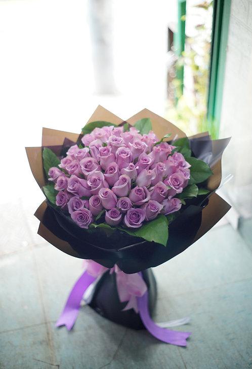 51枝淺紫玫瑰求婚花束 (必須預訂)51 roses bouquet LPU-BK51