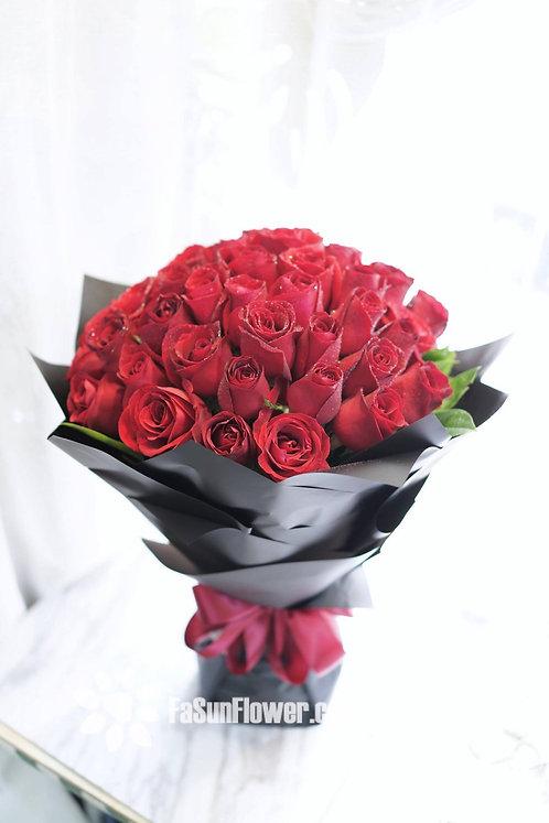 情人節精選 50枝紅玫瑰求婚花束 50 roses bouquet RE-BK50(VD)
