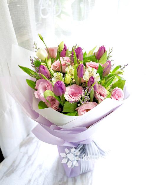 10枝鬱金香花束 Tulip Bouquet PUTU10R
