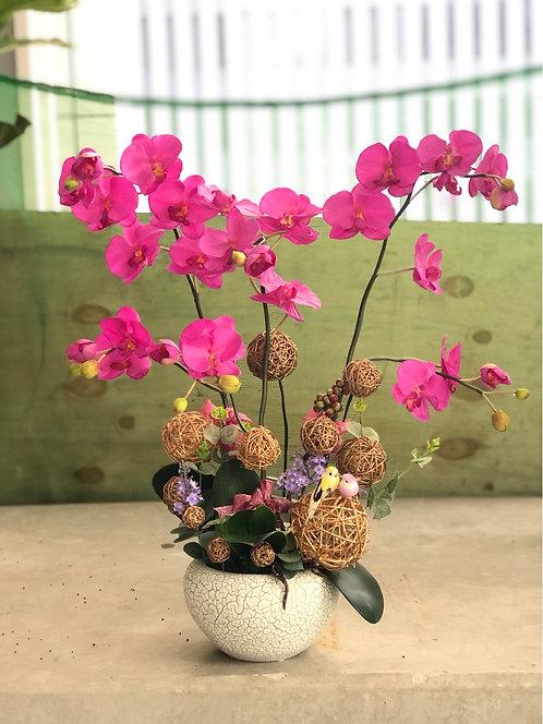 『必須預定』Silk flower Orchid Decoration 絲花蘭花擺設 SKOD-DP3C