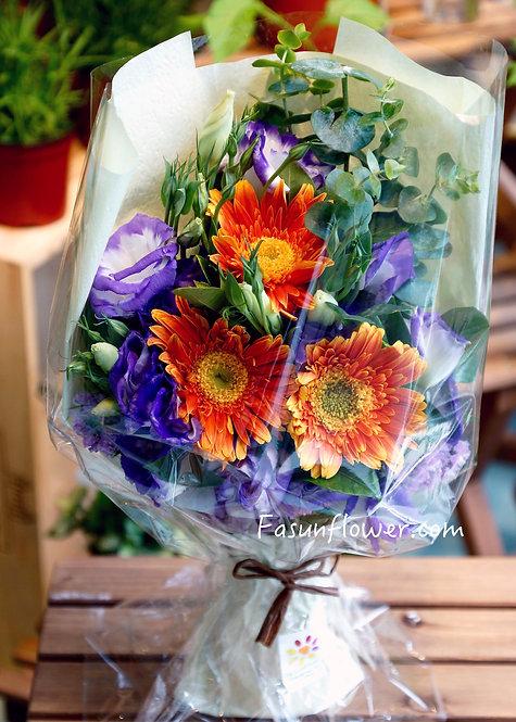 太陽花畢業小花束 (多色可選)Graduation little bouquet  GBL