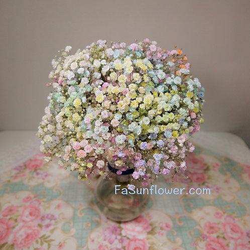 四個七彩滿天星姊妹手捧花套裝 Colorful Baby's Breath wedding bouquet