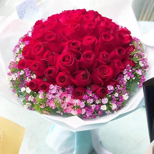 99/108 紅玫瑰花束 Rose Bouquet RE-WHTB99F