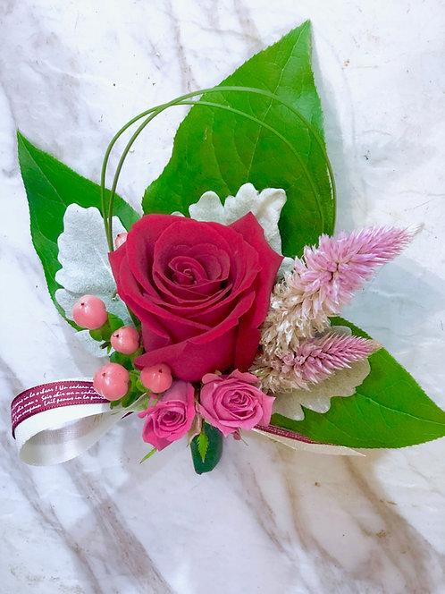 四個鮮花襟花套裝 Rose corsage x4 RF01