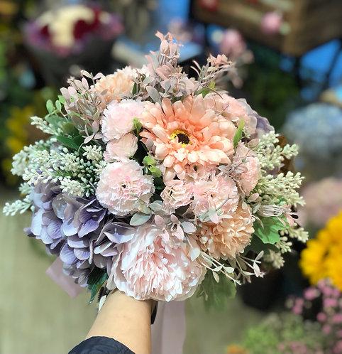 絲花花球 silk flower bouquet 06