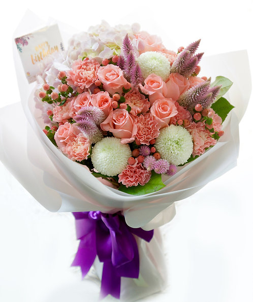 粉玫瑰花束 Pink Rose bouquet LPHYGG1