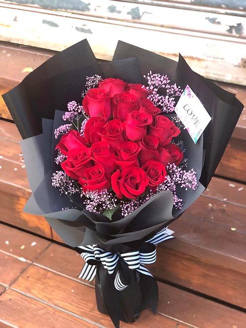 20枝紅玫瑰花束 20 Red Roses Classic Bouquet KSRE20